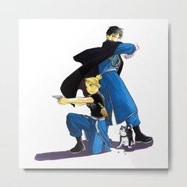 Fullmetal Alchemist - Roy & Riza Metal Print