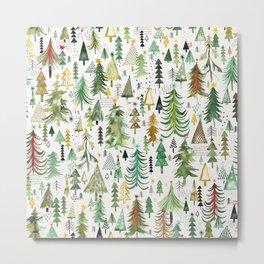Christmas trees decorations Metal Print