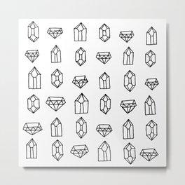 Crystals + Gems Metal Print