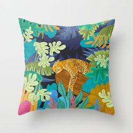 Sleeping Panther Throw Pillow