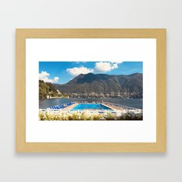 Villa d'Este pool Lake Como Framed Art Print