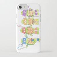ninja turtles iPhone & iPod Cases featuring Ninja Turtles by Icameisawiateit