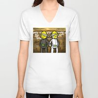 lemongrab V-neck T-shirts featuring Gingerbread Execution - Lemongrabs by BlacksSideshow