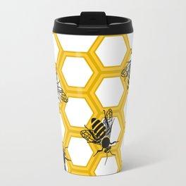 Honeycomb.Flat vector Travel Mug