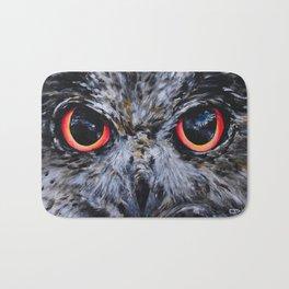 Seeing: The Eyes of an Owl Bath Mat