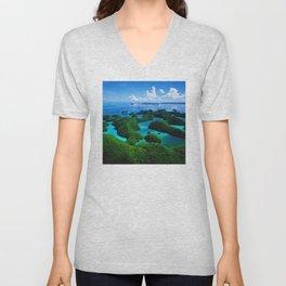 Palau Islands' Tropical Paradise Unisex V-Neck