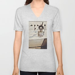 Happiness of a Mixologist  Unisex V-Neck
