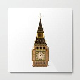 Big Ben Clock Face Metal Print