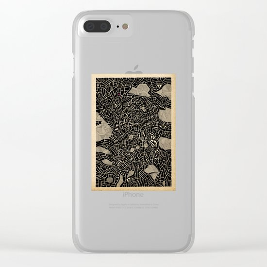 - pink dot burnt by the flow - Clear iPhone Case