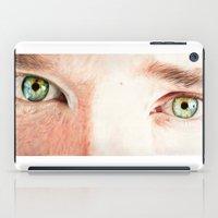benedict cumberbatch iPad Cases featuring Benedict Cumberbatch eyes by Cécile Pellerin
