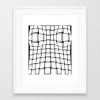 bands Framed Art Prints featuring intertwined bands by siloto