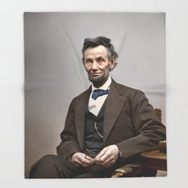 Abraham Lincoln Painting Throw Blanket