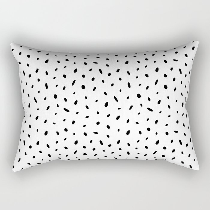 Random dots Rectangular Pillow
