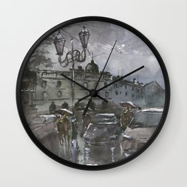 Lviv in the evening Wall Clock