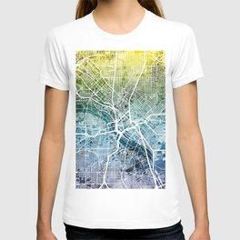 Dallas Texas City Map T-shirt