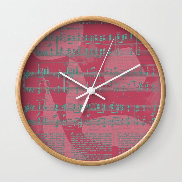 Schumann Sheet Musical - Carnaval Wall Clock