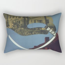 Vintage poster - Cross Out Slums Rectangular Pillow