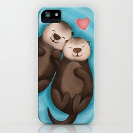 Otterly in Love iPhone Case