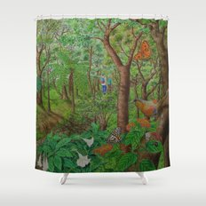 A Day of Forest (1). (walk into the forest) Shower Curtain