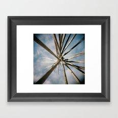 Teepee Top Framed Art Print