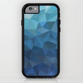 blue geometric iPhone Case