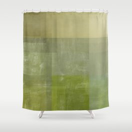 Green Abstract | No. 3 Shower Curtain