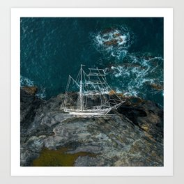Shipwrecked Art Print