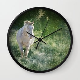 Ghostly Beauty Wall Clock