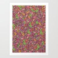Flower Noise Art Print