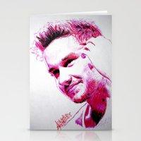 liam payne Stationery Cards featuring Liam Payne by Drawpassionn