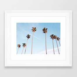 LA Palm Trees Framed Art Print