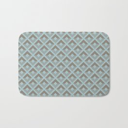 Two-toned square pattern Bath Mat