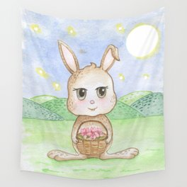 Bunny from the Moon Wall Tapestry