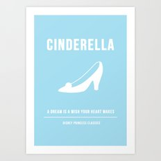 Disney Princesses: Cinderella Minimalist Art Print