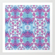 Purple mint Art Print