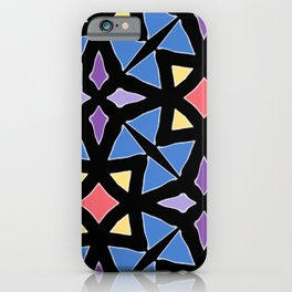 Stained Glass Color Pattern Art iPhone Case