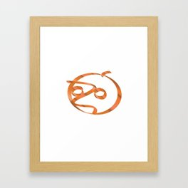 Halloween pumpkin on transparent background Framed Art Print