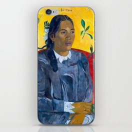 "Paul Gauguin ""Tahitian Woman with a Flower (Vahine no te tiare)"" iPhone Skin"