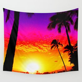 Sunset on Waikiki Wall Tapestry