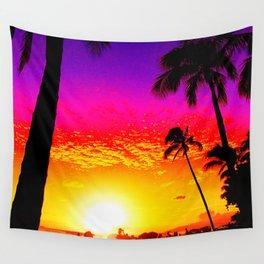 Sunset on Waikiki Wall Tapestry