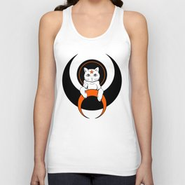 Cat from moon Unisex Tank Top
