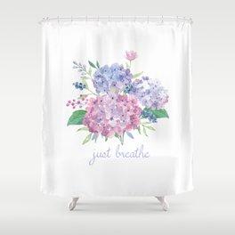 Just Breathe Hydrangeas Shower Curtain