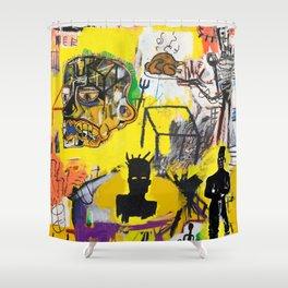 Collage Basquiat Shower Curtain