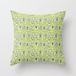 Chaotic Angles in Green by Deirdre J Designs Throw Pillow
