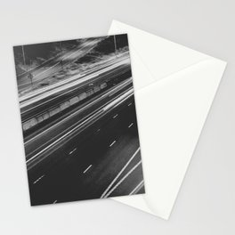 Seattle at Night - Black and White Stationery Cards