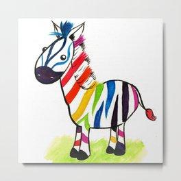 Colorful Zed Metal Print