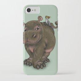 Hippo and Bird Friend iPhone Case