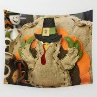 turkey Wall Tapestries featuring Turkey Time by IowaShots
