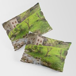 Ancient mill on the river Pillow Sham