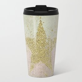 Sparkling Glamorous Golden Star Travel Mug